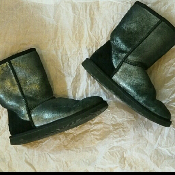 Black metallic Uggs with New Cleaner